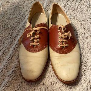 Vintage saddle oxfords